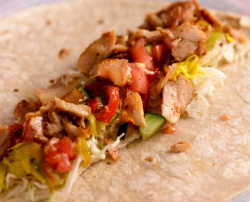 Mexican Chicken & Black Bean Wraps