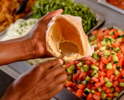 Vegetarian Chickpea Shwarmas